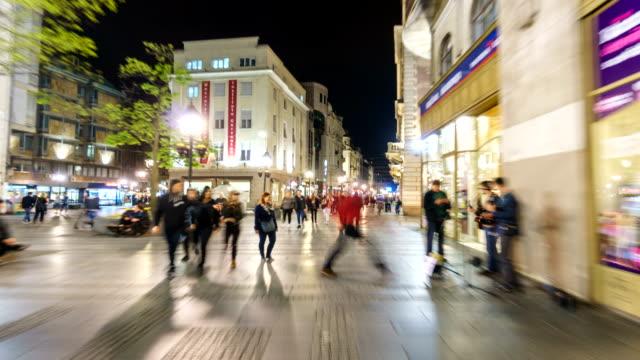 Hyper Lapse of Downtown Center of Belgrade Serbia