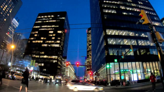 hyper lapse of driving through downtown vancouver - vancouver canada stock videos & royalty-free footage