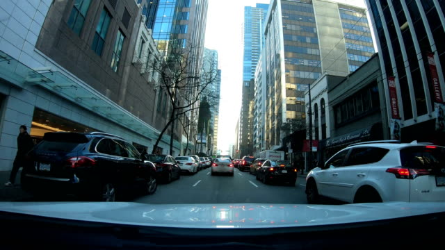 Hyper lapse of driving through downtown Vancouver