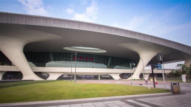 hyper lapse of Hangzhou East railway station,hangzhou,china