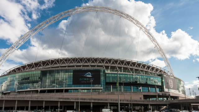 LONDON - CIRCA 2012: Hyper Lapse of Wembley Stadium in London circa 2012
