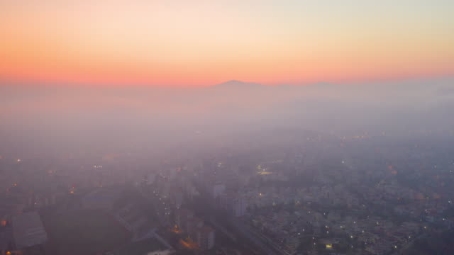 hyper lapse panoramic sunrise view of kusadasi city ,aydın province turkey - aydın province stock videos and b-roll footage