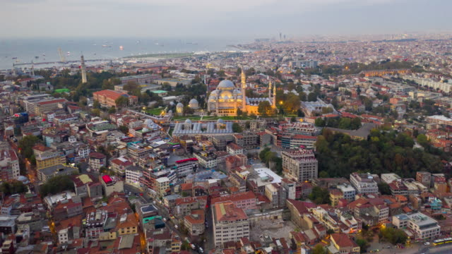 hyper lapse panoramic view suleymaniye mosque in istanbul city ,turkey - dome stock videos & royalty-free footage