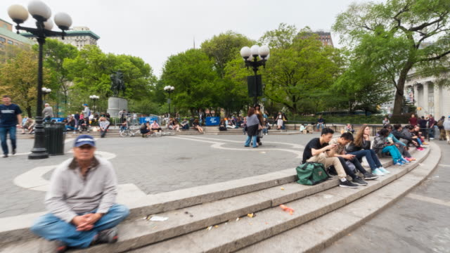 Hyper Lapse through Union Square Park and farmers market