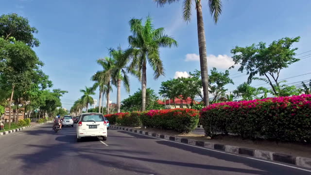Hyper lapse video of driving in Bali, Indonesia