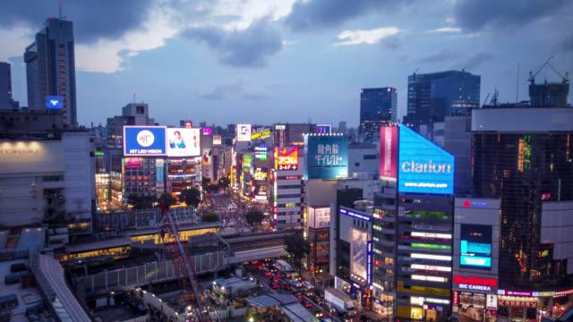 hyper time-lapse of shibuya - shibuya ward stock videos & royalty-free footage