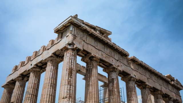 vídeos de stock e filmes b-roll de hyperlapse: acropolis of athens - greece