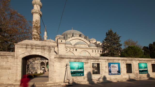 tl hyperlapse across suleymaniye mosque - suleymaniye mosque stock videos and b-roll footage