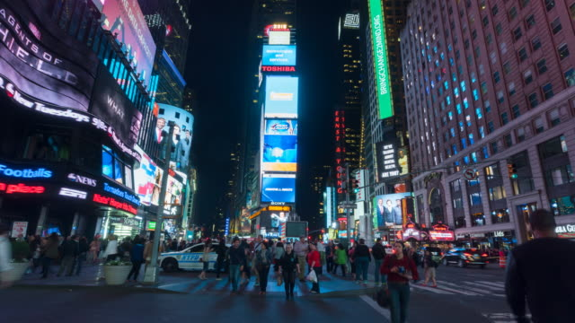 hyperlapse across times square - hyper lapse stock videos & royalty-free footage