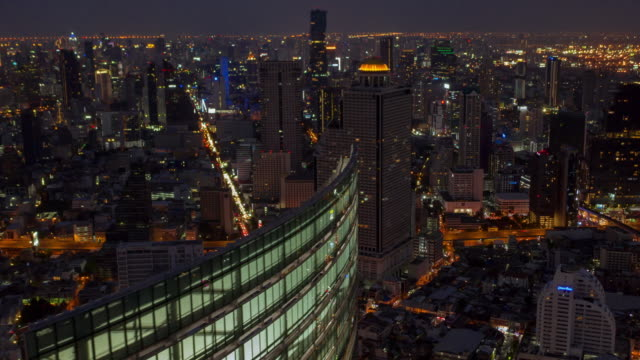 hyperlapse aerial view of business district - tokyo midtown stock videos & royalty-free footage