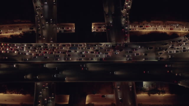 hyperlapse aerial view of overpass - winding road stock videos & royalty-free footage