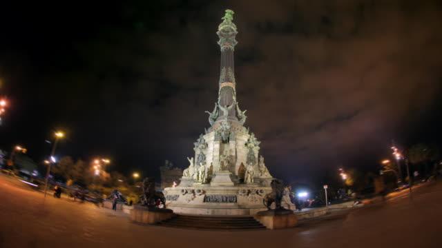 TL Hyperlapse around Colon Statue at night