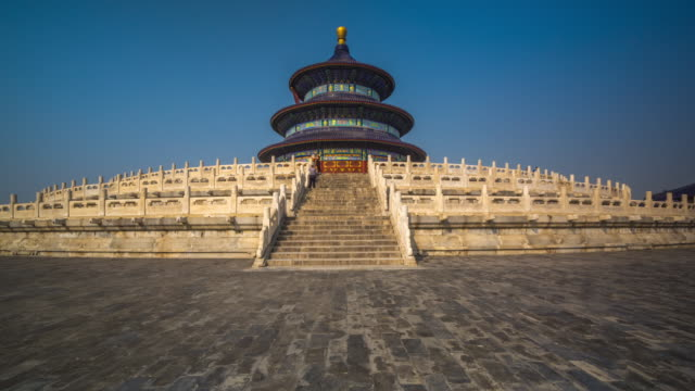hyperlapse around temple of heaven, beijing, china - temple of heaven stock videos & royalty-free footage
