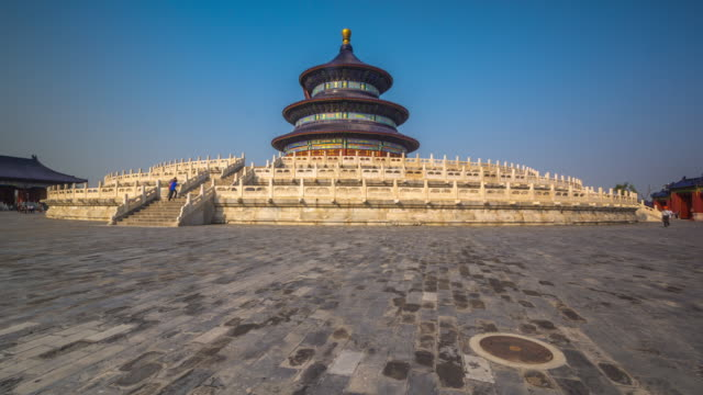 hyperlapse around temple of heaven, beijing - temple of heaven stock videos & royalty-free footage