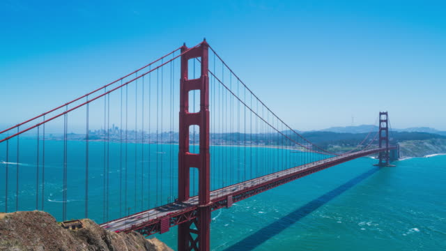 hyperlapse at the golden gate bridge lookout in san francisco - golden gate bridge stock-videos und b-roll-filmmaterial