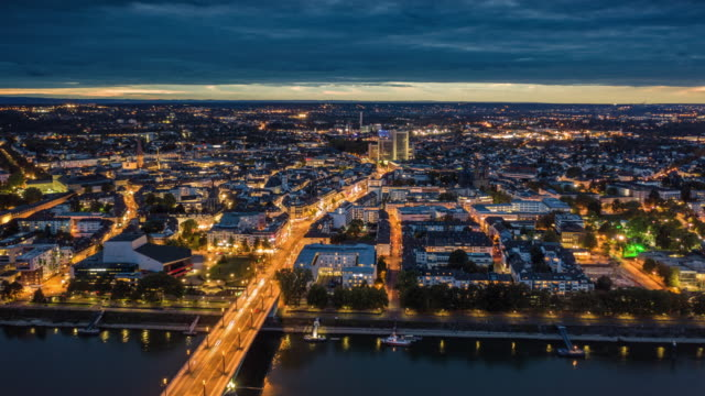 hyperlapse: bonn cityscape in germany - germany stock videos & royalty-free footage