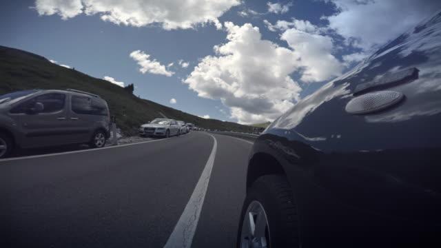 Hyperlapse POV Car driving on the Dolomites, European Alps