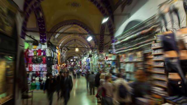 tl hyperlapse grand bazaar - grand bazaar istanbul stock videos & royalty-free footage