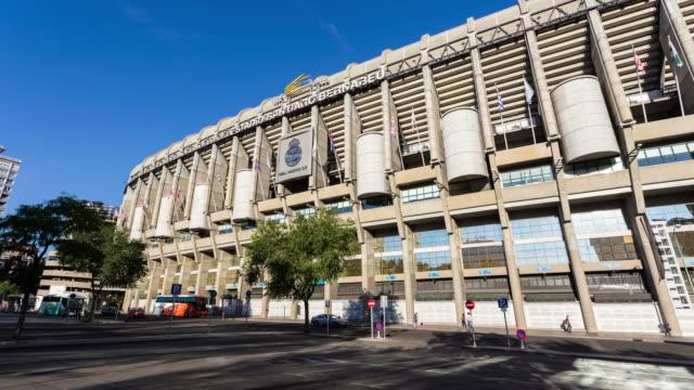 MADRID - CIRCA 2013:  Hyperlapse, Hyper lapse, time lapse of Bernabeu Stadium of Real Madrid during the day