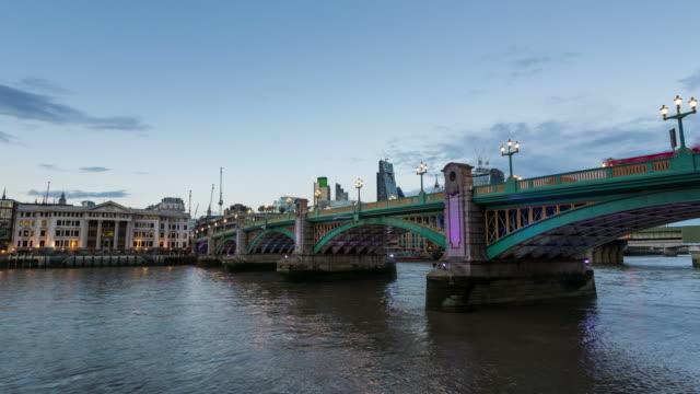 london - circa 2013: hyperlapse, hyper lapse, time lapse sunset of southwark bridge  - 2013 stock videos & royalty-free footage