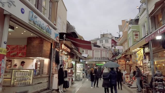 hyperlapse in kemeralti district of izmir/turkey - izmir stock videos & royalty-free footage