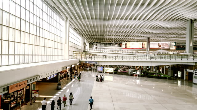 hyperlapse inside airport terminal - hyper lapse stock videos & royalty-free footage