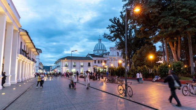 hyperlapse of a public square in colombia - colombia stock videos & royalty-free footage