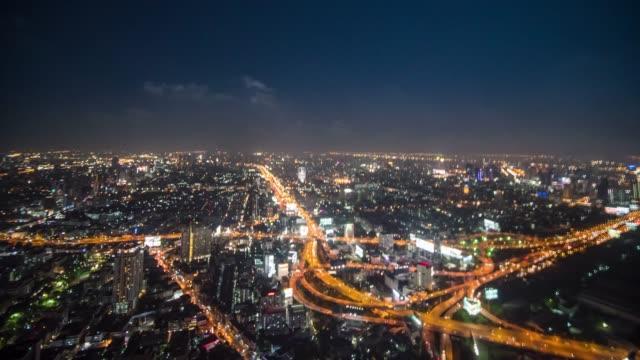 Hyperlapse of Bangkok city 360 view
