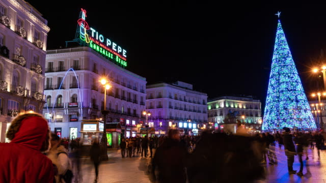 Hyperlapse of christmas light in Madrid