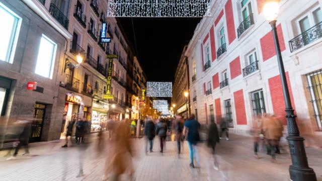 Hyperlapse of christmas light in Madrid