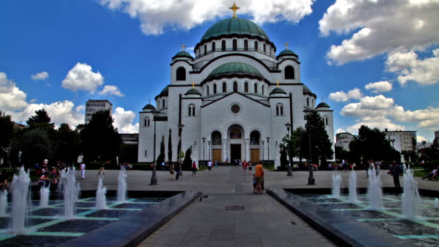 hyperlapse of church of saint sava in belgrad - belgrade serbia stock videos and b-roll footage