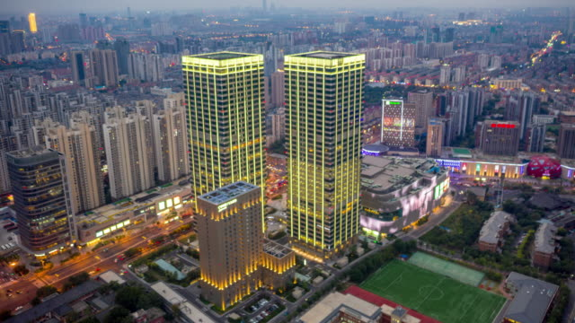 hyperlapse of cityscape - liyao xie stock videos & royalty-free footage