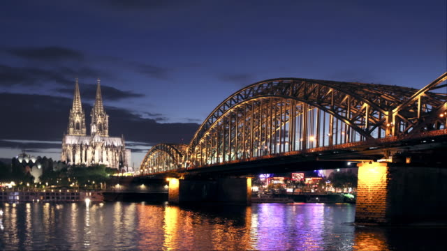 hyperlapse of cologne (köln) germany - gothic style stock videos & royalty-free footage