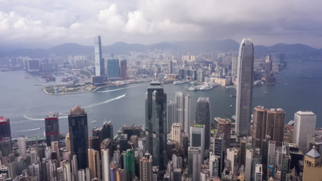 hyperlapse of hong kong cityscape in day time - hyper lapse stock videos & royalty-free footage