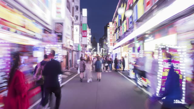 hyperlapse of kabukicho, shinjuku / tokyo, japan - diminishing perspective stock videos & royalty-free footage
