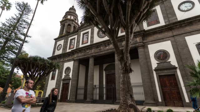 Hyperlapse of La Laguna Cathedral in Tenerife