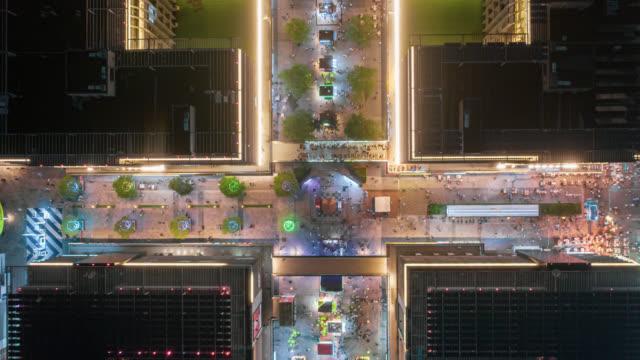 hyperlapse of night market crowd - liyao xie stock videos & royalty-free footage