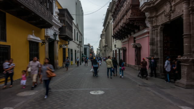 Hyperlapse of pedestrian street in Lima
