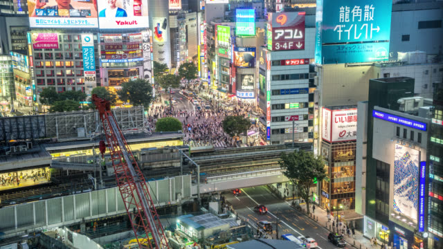 stockvideo's en b-roll-footage met hyperlapse of shibuya - shibuya shibuya station