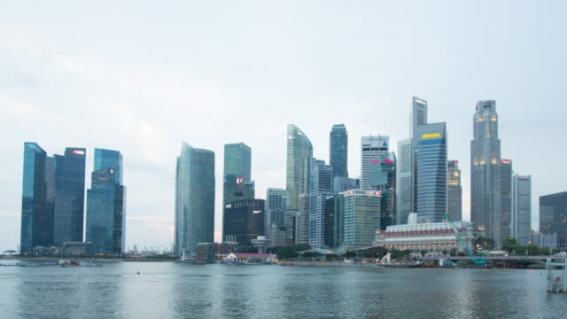 WS TL Hyperlapse of singapore central business district and downtown