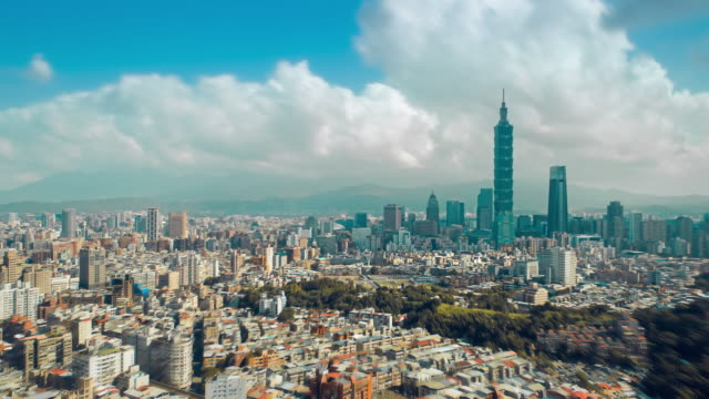 hyperlapse of taipei city - finance and economy stock videos & royalty-free footage