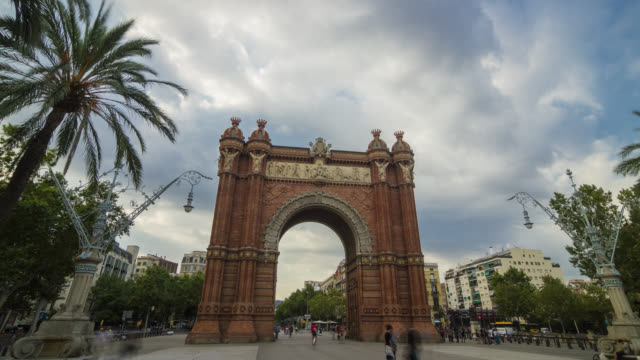 Hyperlapse of the Arc de Triomf in Barcelona, Spain.