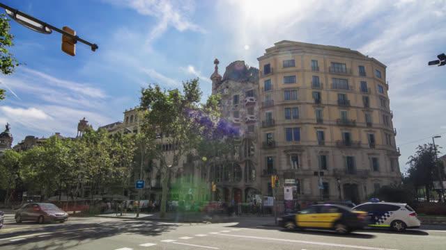 Hyperlapse of the Casa Batllo (House of Bones) by Antonio Gaudi in Barcelona, Spain.