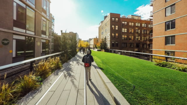 Hyperlapse of the High Line Park in New York City