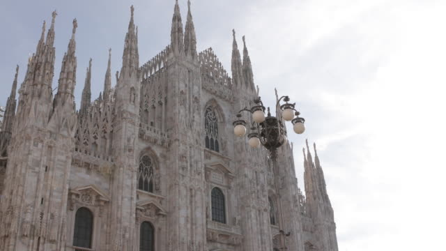 a hyperlapse of the milan's duomo, italy - cathedral stock videos & royalty-free footage
