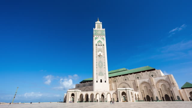casablanca - hyperlapse of the mosquée hassan ii - casablanca morocco stock videos & royalty-free footage