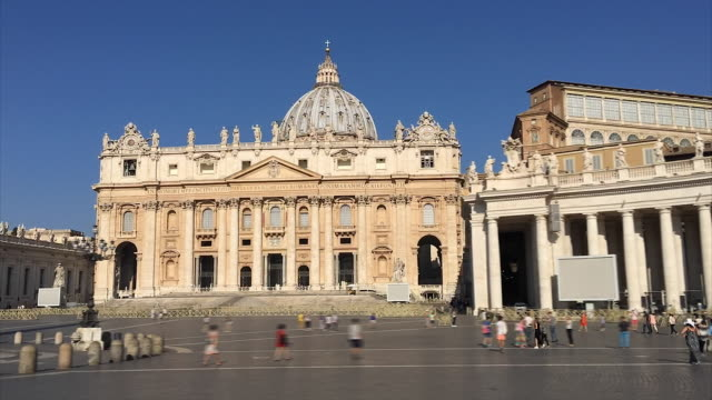 vídeos y material grabado en eventos de stock de hyperlapse of the vatican - pope