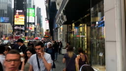 Hyperlapse of Times Square in New York City