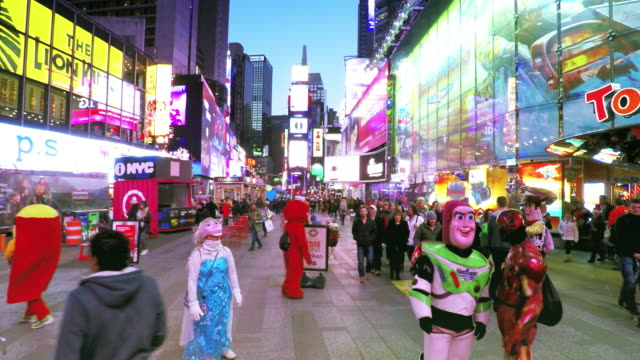 Hyper-lapse de Times Square à New York City