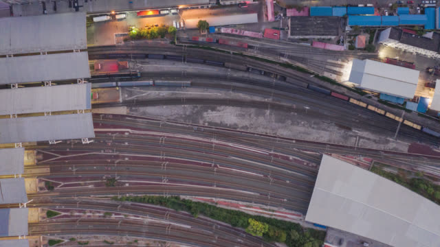 hyperlapse of train aerial view - rail transportation stock videos & royalty-free footage